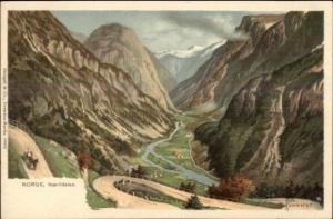 Norge Norway Naerodalen FINE LITHO c1900 Postcard KAMMERER Exc Cond