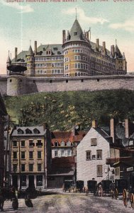 QUEBEC, Canada, 1900-1910s; Chateau Frontenac From Market, Lower Town