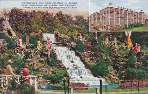 Waterfalls And Rock Garden In Olson Park Surrounding Rug Factory Diversey At ...