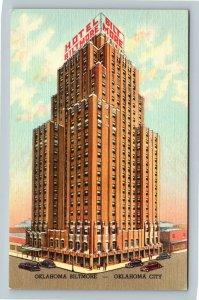 Oklahoma City OK, Oklahoma Hotel Biltmore, Linen Oklahoma Postcard