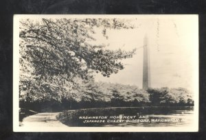 RPPC WASHINGTON D.C. WASHINGTON MONUMENT VINTAGE REAL PHOTO POSTCARD DC