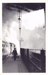 Nostalgia Postcard Liverpool Lime Street Train Railway Station Repro card #N1119