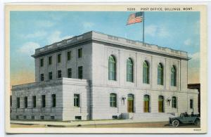 Post Office Billings Montana 1920s postcard