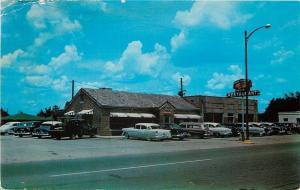 Sylacauga Alabama~Old Hickory Restaurant~Pit BBQ~Pig Sign~Nice 1950s Cars~PC