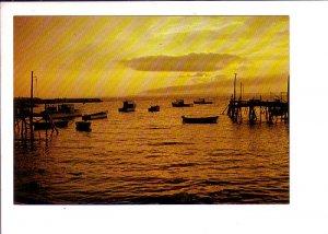 Sunset, Fishing Wharf, End of the Day, Nova Scotia