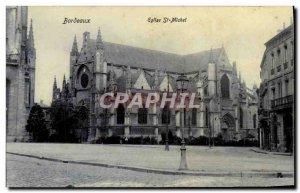 Postcard Old Church St Michel Bordeaux
