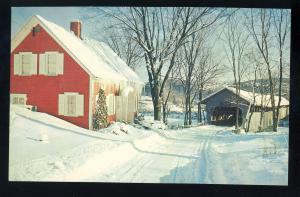 Haverhill, New Hampshire/NH-South Newbury, Vermont/VT Postcard, Bedell Bridge