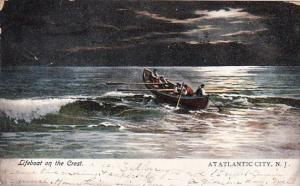 Lifeboat On The Crest Atatlantic City New Jersey 1906