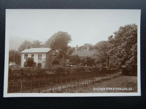 Lancashire Rawtenstall HIGHER CONSTABLE Cottages - Old RP Postcard