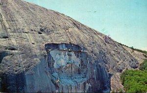 Georgia Atlanta Stone Mountain Showing World's Largest Sculpture 1976