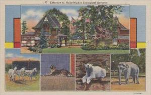 Pennsylvania Philadelphia 177 Entrance To Philadelphia Zoological Gardens