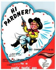 18535  Hi Pardner Jelly Bean Candy , E.Rosen Co. Pawtucket RI Cowboy
