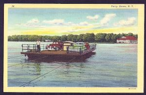 Ferry Boat on River Stowe NY unused c1942