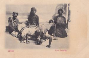 Aden Yemen Arab Dancing Contortionist Antique Postcard