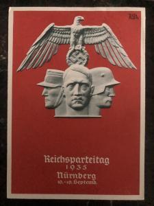 1935 Germany Postcard  Propaganda cover Nurnberg Rally NSDAP party