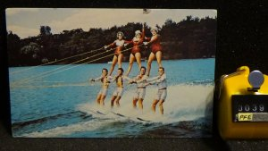 STD Vintage Human Pyramid by Tommy Bartlett Skiers in ARCO Water Ski Show