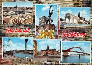 Netherlands Groeten uit Rotterdam multiviews Souvenir, Greetings