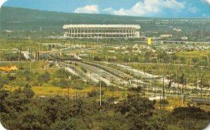 US3151 Mexico THe Belt System Running past the Aztec Stadium estade stadio