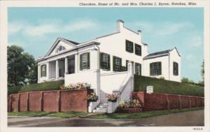 Mississippi Natchez Cherokee Home Of Mr and Mrs Charles J Byrne Curteich