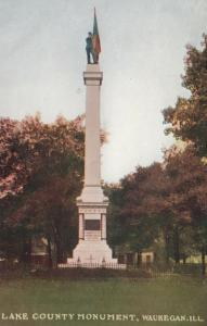 WAUKEGAN, Illinois, 00-10s; Lake County Monument