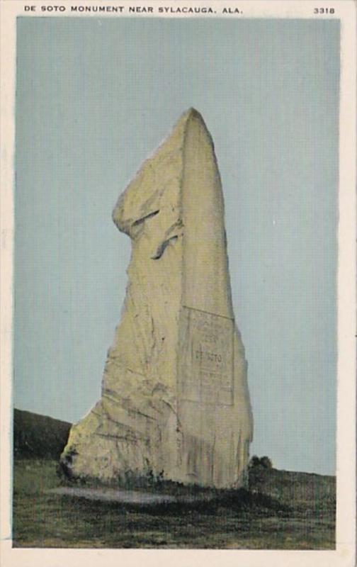 Alabama Soto Monument Near Sylacauga