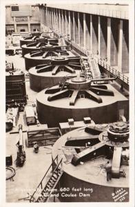 Washington Grand Coolee Dam Generator Room 680 Feet Long Real Photo