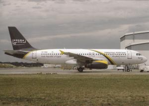 NESMA AIRLINES, A320-232, unused Postcard