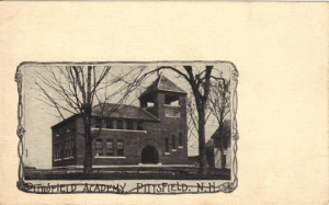 Historic Pittsfield Academy Vintage Postcard Very old well over 100 Years UBPC