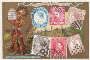 Trade Card (TC): Boy carrying Letter w/ Stamps , 1880-90s ; Niederlandisch & ...