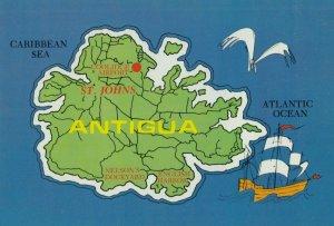 ANTIGUA , 1960-80 ; Map