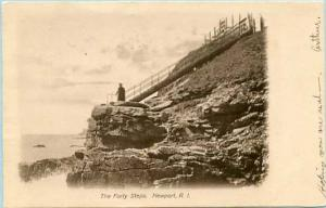 RI - Newport. The Forty Steps
