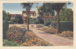 North or Patio Garden Mission San Juan Capistrano California Curteich