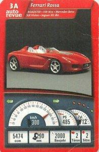 Piatnik 6x9cm auto revue trade card 3A FERRARI ROSSA