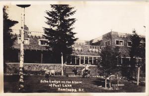 RP : KAMLOOPS , B.C. , Canada , 1910s ; Echo Lodge, Paul Lake