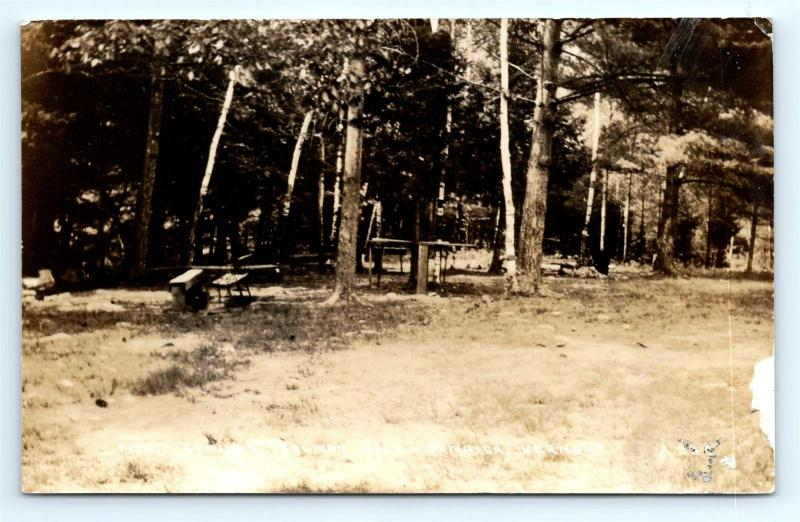 Postcard VT Jamaica Picnic Grounds Salmon Hole RPPC Real Photo L01