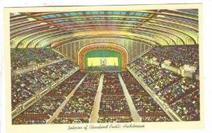 Interior of Cleveland Public Auditorium, Cleveland, Ohio, 40-60s