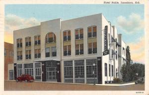 Jonesboro Arkansas Hotel Noble Street View Antique Postcard K62099