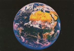 Africa & Europe From Outer Space Map Astronomy Rare Postcard