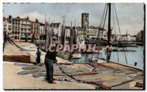 La Rochelle - Quays Fisherman - Modern Postcard