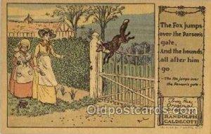 Artist Randolph Caldecott Nursery Rhyme Unused