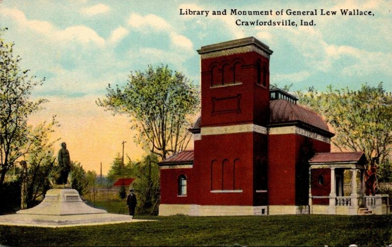 Library and Monument Of General Lew Wallace Crawfordsville Indiana