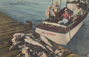 FLORIDA, 30-40s; At the End of a Salt Water Fishing Trip, Sea Biscuit