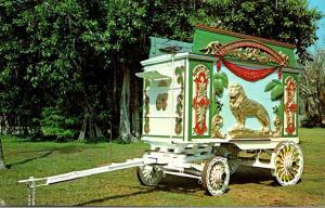 Florida Sarasota Circus Hall Of Fame Lion Tableau Wagon