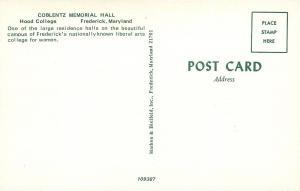 Frederick Maryland~Hood College~Coblentz Memorial Hall~1950s Postcard