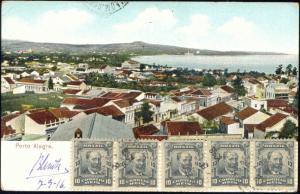 brazil, PORTO ALEGRE, Partial View (1916) Stamps
