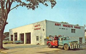 Bay Shore NY Andy's Garage Tow Trucks Wreckers Service Postcard