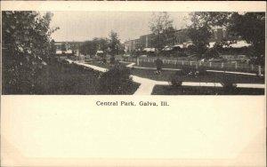 Galva IL Central Park c1905 Postcard