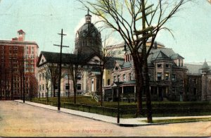 New York Binghamton Broom County Jail and Court House 1908