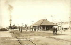 Medford OR RR Train Station Depot c1910 Real Photo Postcard SCARCE VIEW