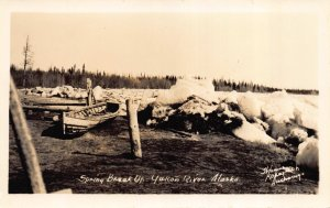 Real Photo Postcard Spring Ice Break Up on the Yukon River, Alaska~110769